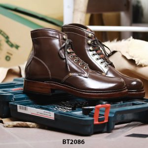 Giày da Boot nam cột dây thời trang BT2086 004