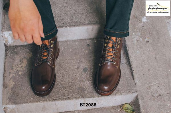 Giày Boot nam cột dây thời trang 2021 BT2088 001