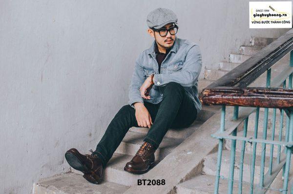 Giày Boot nam cột dây thời trang 2021 BT2088 005