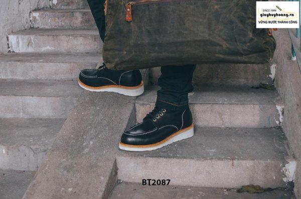 Giày da Boot nam cột dây phong cách BT2087 001