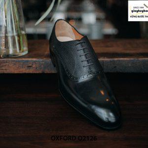 Giày tây nam phối da hột thời trang Oxford O2126 002