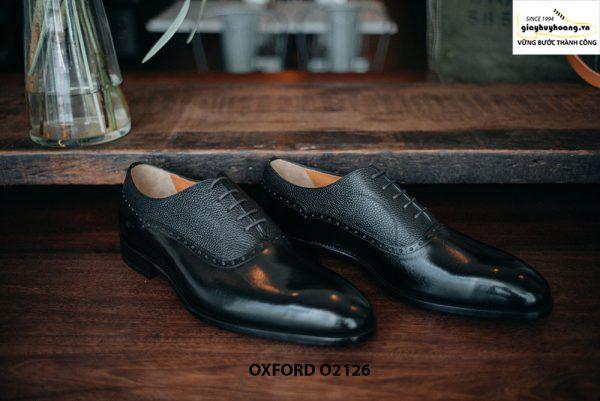 Giày tây nam phối da hột thời trang Oxford O2126 001