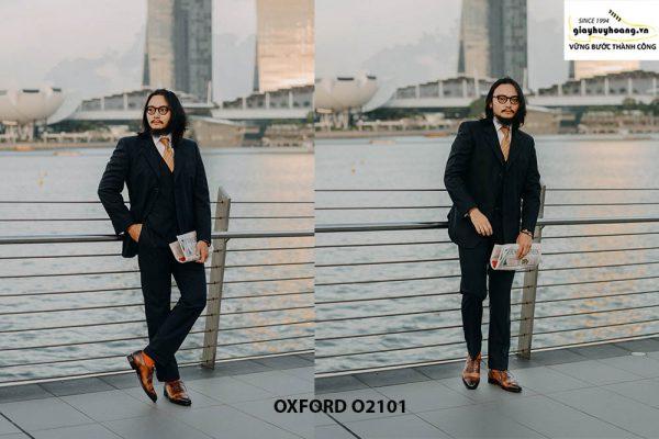 Giày da nam vô cùng thời trang tuyệt đẹp Oxford O2101 005