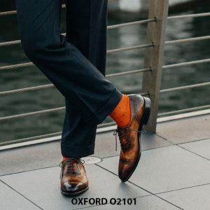 Giày da nam vô cùng thời trang tuyệt đẹp Oxford O2101 001