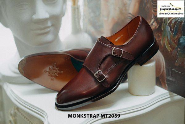 Giày da nam dáng đẹp Double Monkstrap MT2059 002