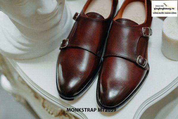 Giày da nam dáng đẹp Double Monkstrap MT2059 001
