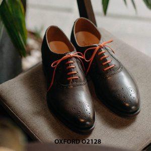 Giày tây nam màu da đẹp Oxford O2128 001