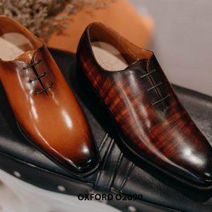 Giày buộc dây nam đẹp chỉ từ 1 miếng da Oxford Wholecut O2090 006