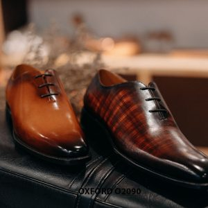 Giày buộc dây nam đẹp chỉ từ 1 miếng da Oxford Wholecut O2090 004