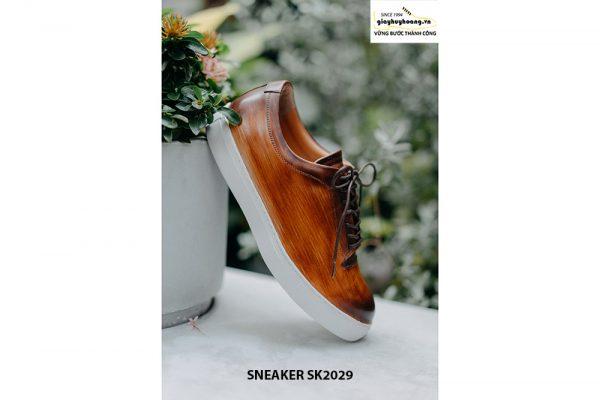 Giày da nam đánh Patina đẹp Sneaker SK2029 005