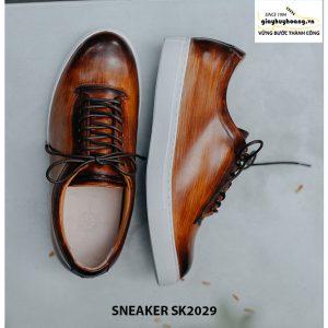 Giày da nam đánh Patina đẹp Sneaker SK2029 004