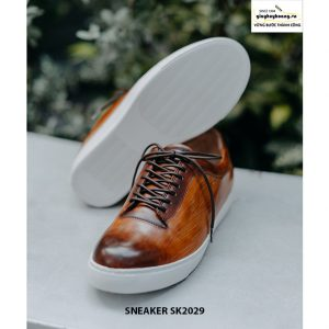 Giày da nam đánh Patina đẹp Sneaker SK2029 003