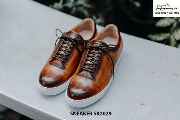 Giày da nam đánh Patina đẹp Sneaker SK2029 002