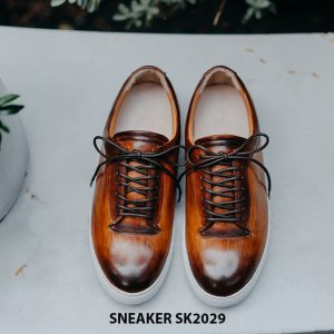 Giày da nam đánh Patina đẹp Sneaker SK2029 001
