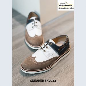 Giày da nam thể thao buộc dây Sneaker SK2033 003