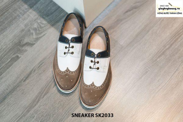 Giày da nam thể thao buộc dây Sneaker SK2033 001