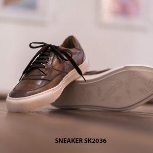 Giày da nam làm từ thủ công Sneaker SK2036 004