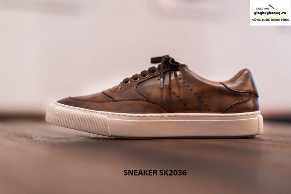Giày da nam làm từ thủ công Sneaker SK2036 002