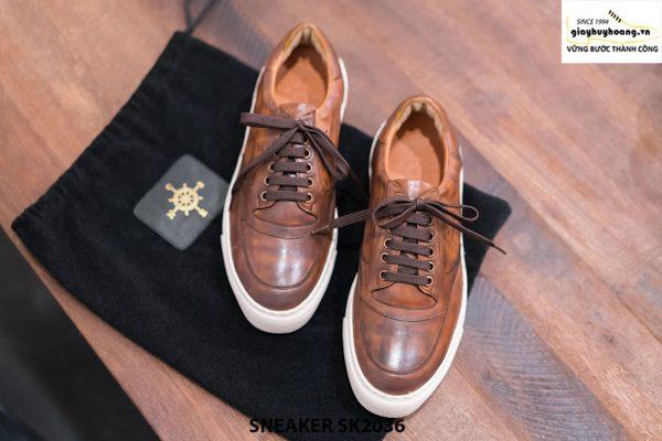 Giày da nam làm từ thủ công Sneaker SK2036 001