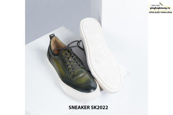 Giày da nam đế bằng có khâu chỉ bền bỉ Sneaker SK2022 004