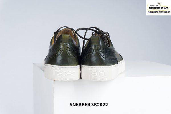 Giày da nam đế bằng có khâu chỉ bền bỉ Sneaker SK2022 003