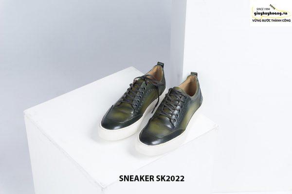 Giày da nam đế bằng có khâu chỉ bền bỉ Sneaker SK2022 002