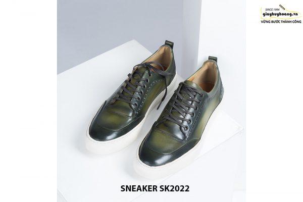 Giày da nam đế bằng có khâu chỉ bền bỉ Sneaker SK2022 001