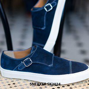 Giày sneaker nam đế bằng da lộn SK2024 005