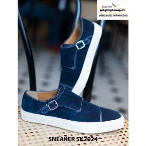 Giày sneaker nam đế bằng da lộn SK2024 004