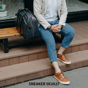 Giày da nam đế bằng thời trang cao cấp Sneaker SK2027 004