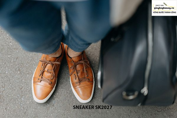 Giày da nam đế bằng thời trang cao cấp Sneaker SK2027 001
