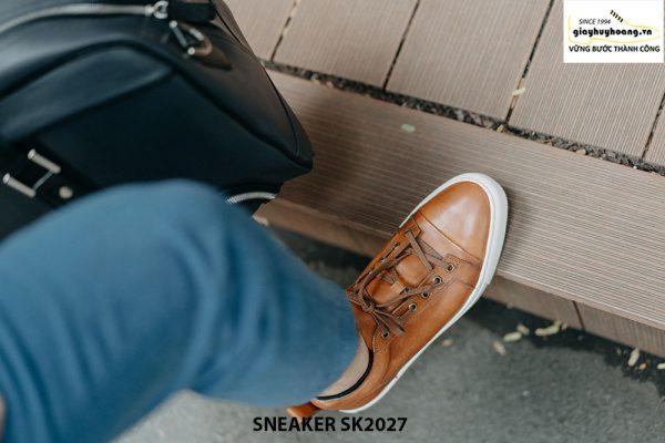Giày da nam đế bằng thời trang cao cấp Sneaker SK2027 003
