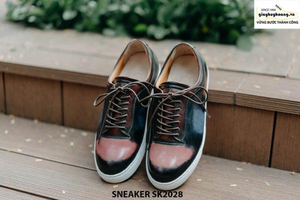 Giày da nam mũi tròn thời trang Sneaker SK2028 001