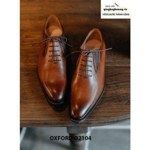 Giày da nam dây giả chính hãng Oxford O2104 005