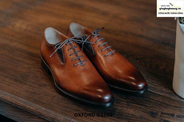 Giày da nam dây giả chính hãng Oxford O2104 001