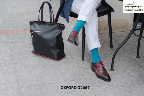 Giày tây nam có màu sáng đẹp Oxford O2087 002