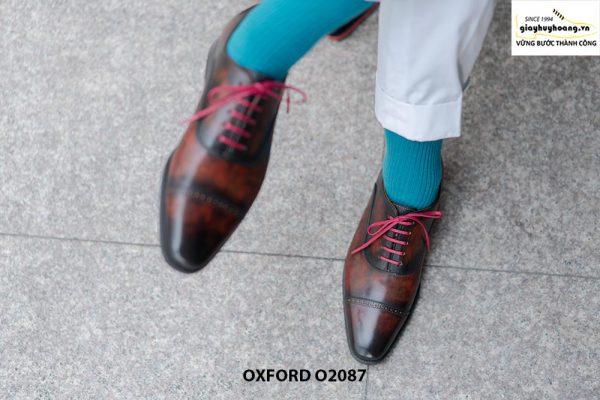 Giày tây nam có màu sáng đẹp Oxford O2087 001