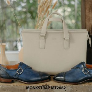 Giày tây nam đánh Patina Single Monkstrap MT2062 007