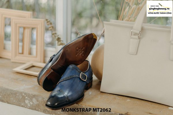 Giày tây nam đánh Patina Single Monkstrap MT2062 004