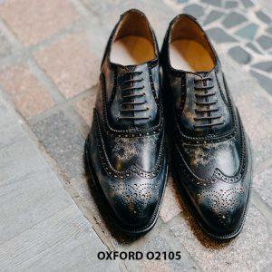 Giày da nam Wingtips chữ W phong cách Oxford O2105 005