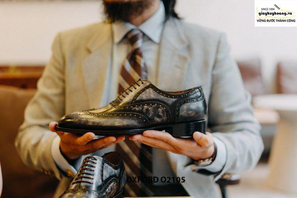 Giày da nam Wingtips chữ W phong cách Oxford O2105 004