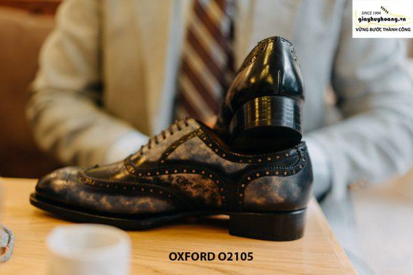 Giày da nam Wingtips chữ W phong cách Oxford O2105 003
