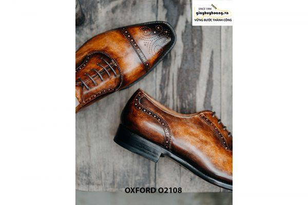 Giày da nam da bò hảo hạng Oxford O2108 006