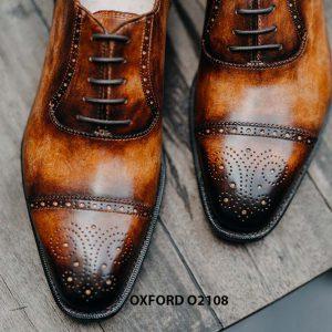 Giày da nam da bò hảo hạng Oxford O2108 004