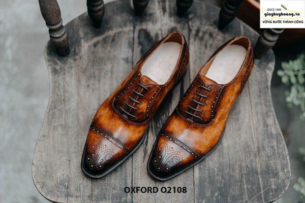 Giày da nam da bò hảo hạng Oxford O2108 001