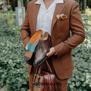 Giày da nam chính hãng chất lượng Oxford O2102 005