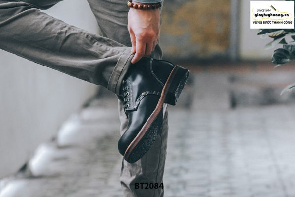 Giày da Boot nam cổ cao đen trẻ trung BT2084 004