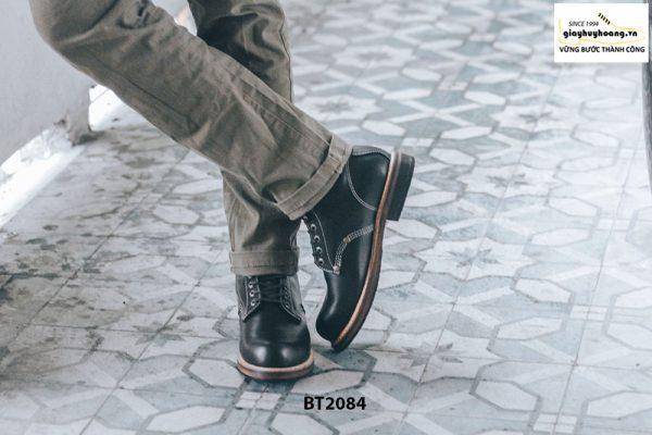 Giày da Boot nam cổ cao đen trẻ trung BT2084 001