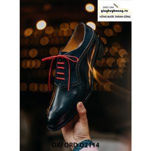 Giày da nam cao cấp phối da nhung Oxford O2114 006