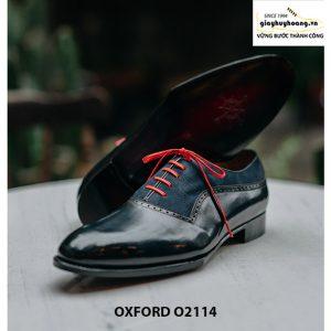 Giày da nam cao cấp phối da nhung Oxford O2114 003